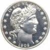 Silver Barber Half Dollar Coin