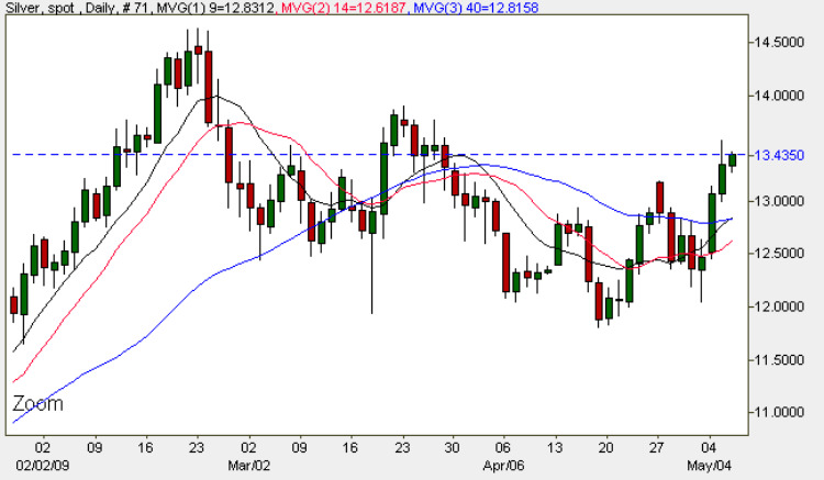 Silver Spot Price - Daily Silver Chart 6th May 2009